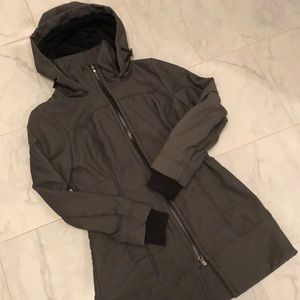 Three Stones long grey jacket. Good condition!